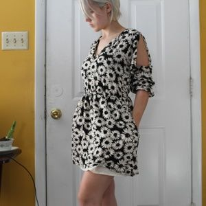 Forever 21 White Flower Print Dress